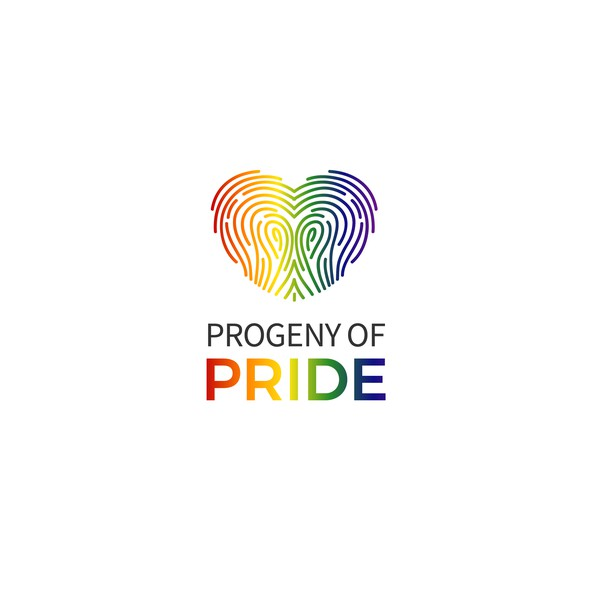 LGBT logo with the title 'Logo Progeny of Pride'