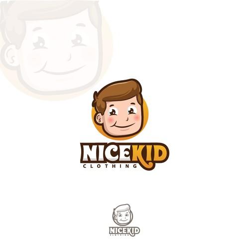 Boy logo with the title 'Nice Kid logo'