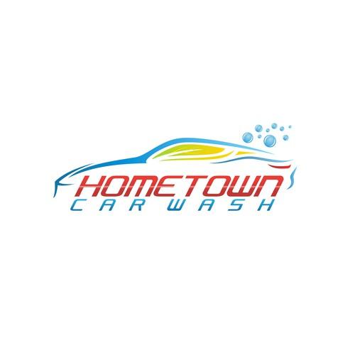 Carwash logo with the title 'Organic Carwash logo'
