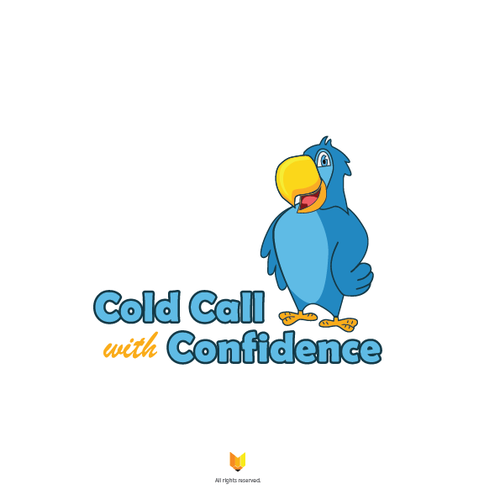 Call design with the title 'Design a character/mascot-driven logo for Cold Call with Confidence'