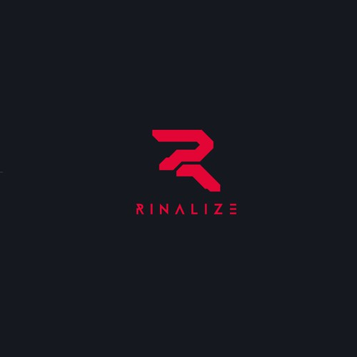 Cyberpunk logo with the title 'Rinalize logo'