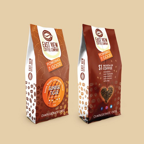 Roasted coffee packaging with the title 'Packaging Design Entry for Start up Specialty Coffee Roaster'