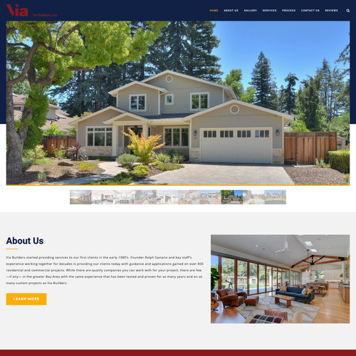 Digital website with the title 'New Business Design for Real Estate Company'