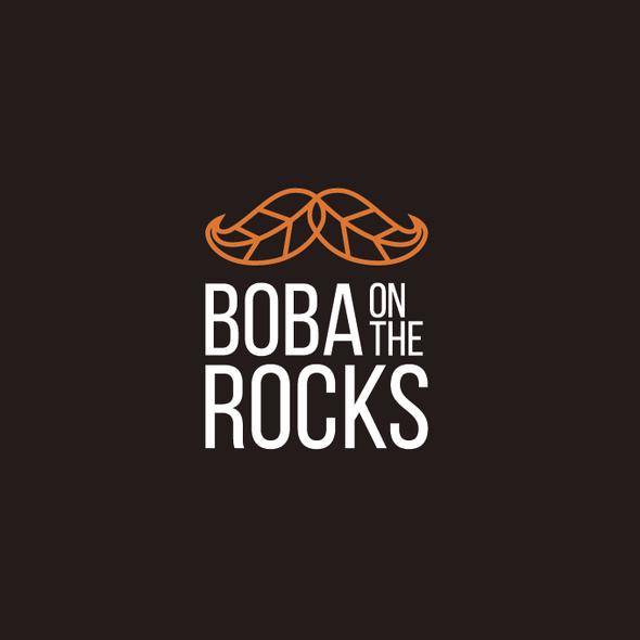 Bubble tea design with the title 'Bubble Tea Logo'
