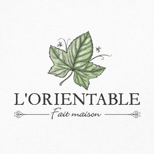 Restaurant logo with the title 'L'orientable'