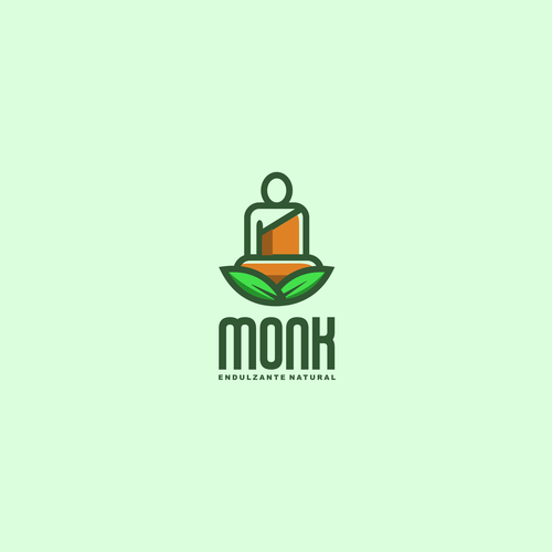 Monk logo with the title 'MONKFRUIT SWEETENER LOGO'