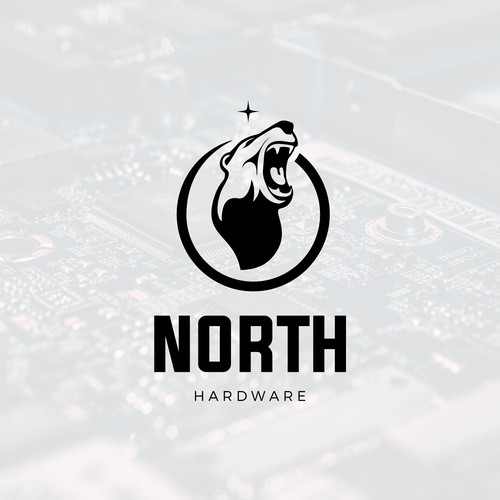 Hardware design with the title 'North Hardware'
