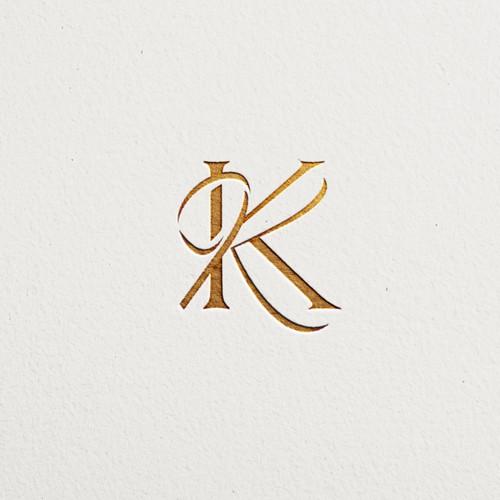 K logo with the title '° KK logomark °'