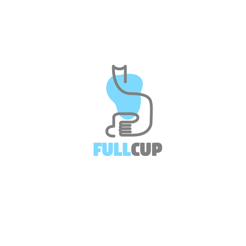 One line design with the title 'FullCup'
