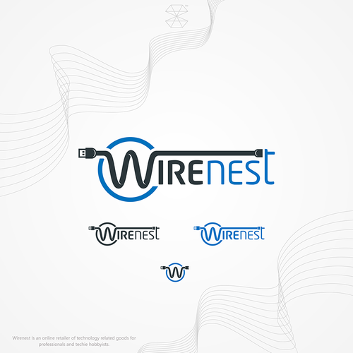 Nest logo with the title 'Wirenest Logo'