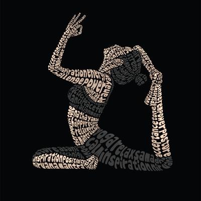 Yoga Pose Typography Illustration