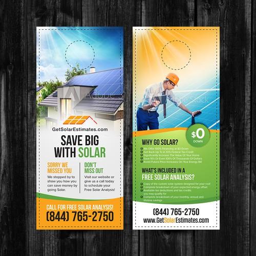Solar design with the title 'Door Hanger '