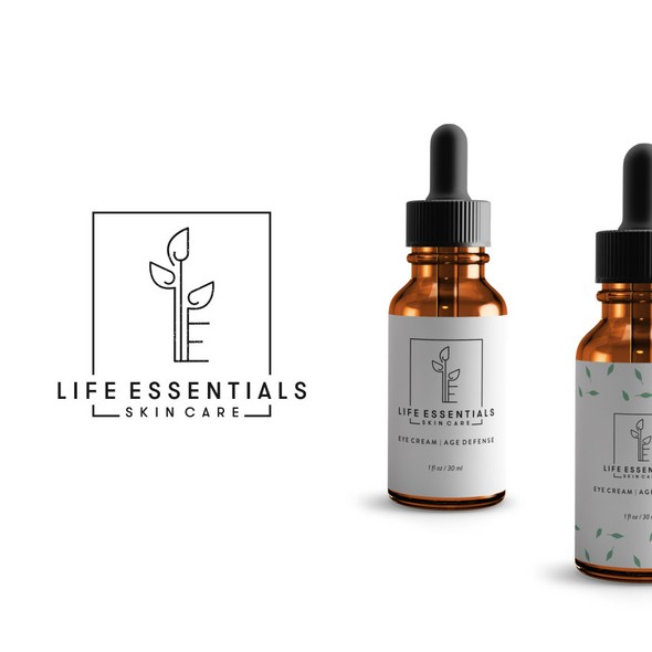Skin care design with the title 'Logo Concept for Skin Care Products'