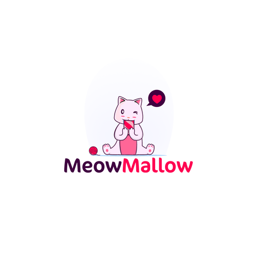 Marshmallow logo with the title 'Meow'