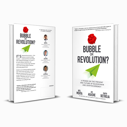 Present design with the title 'Bubble or Revolution? A Primer on the Present and Future of Blockchain and Cryptocurrency'