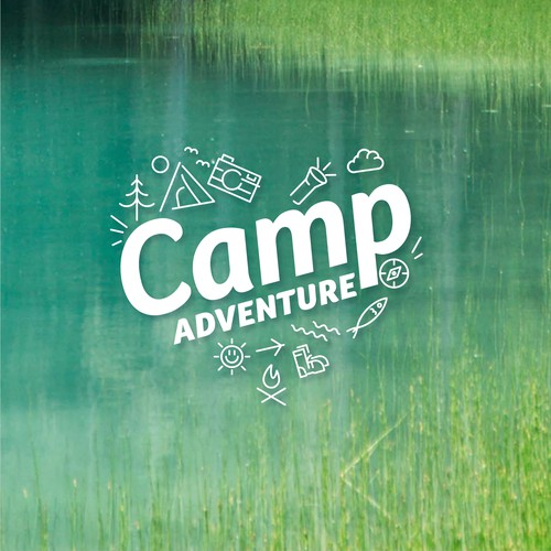 Camping logo with the title 'Camp Adventure logo '