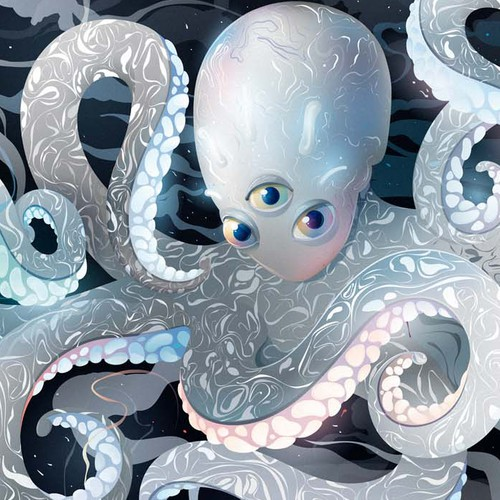 Vector illustration with the title 'Octopus illustration '