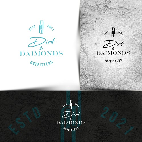 Typography brand with the title 'Dirt and Diamonds Outfitters Logo'