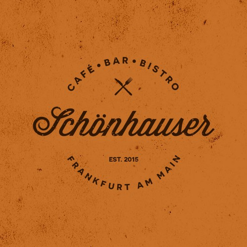 Bistro design with the title 'Vintage/retro logo for a new Cafe/Bar/Bistro in Frankfurt am Main'