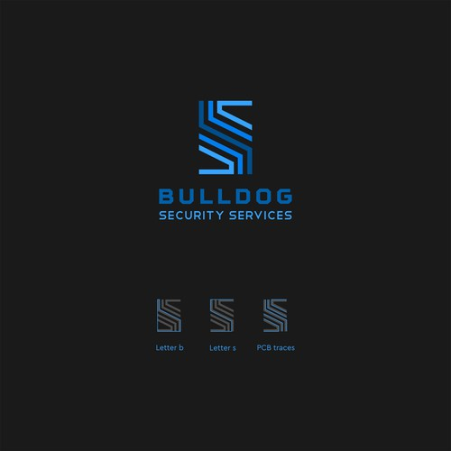 Bulldog mascot logo with the title 'Bulldog Security Services'