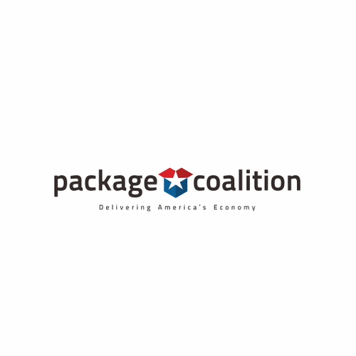 Parcel logo with the title 'Package Box Logo'