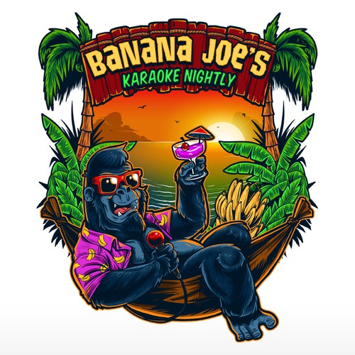 Banana design with the title 'Banana Joe's'