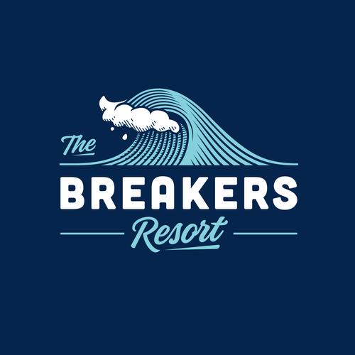 Resort design with the title 'The Breakers Resort'