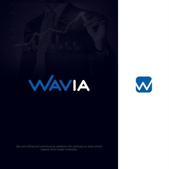 W logo with the title 'WAVIA'