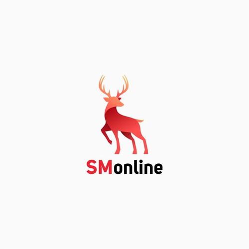 Deer design with the title 'deer logo'
