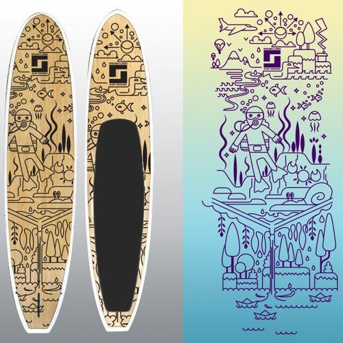Paper illustration with the title 'illustration for Sandbox Lingo'