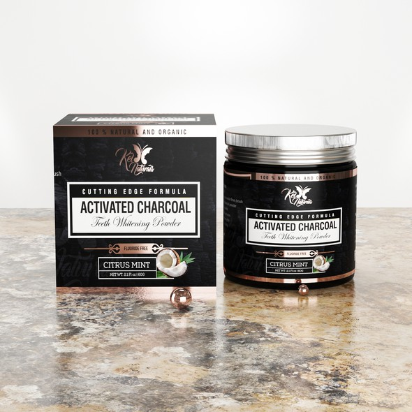 Nutritional supplement packaging with the title 'Kel naturals'