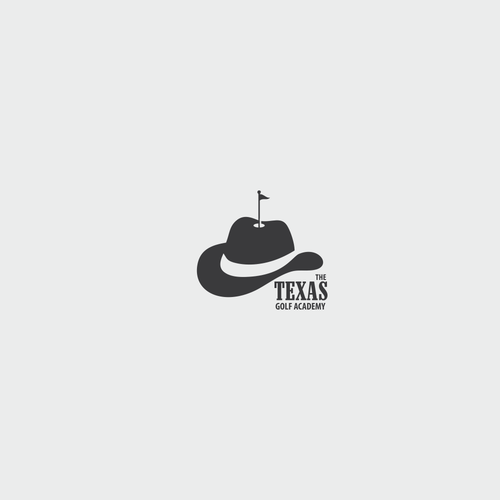 Cowboy hat logo with the title 'texas golf'