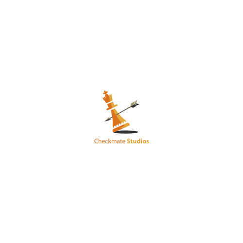 Card game logo with the title 'Checkmate Studios'