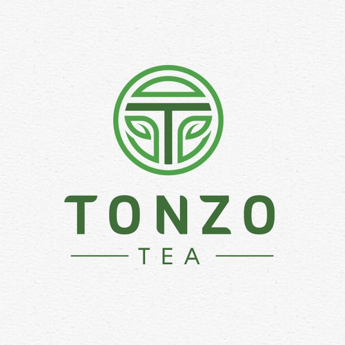 Tea leaf logo with the title 'Tonzo Tea logo'