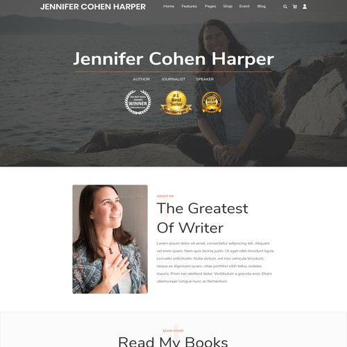 Author website with the title 'Simple Friendly Site for Children's Book Author'
