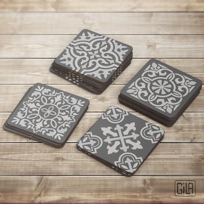 Modern Tile Coasters