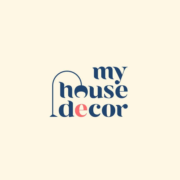 Two-tone design with the title 'Logo for My House Decor'