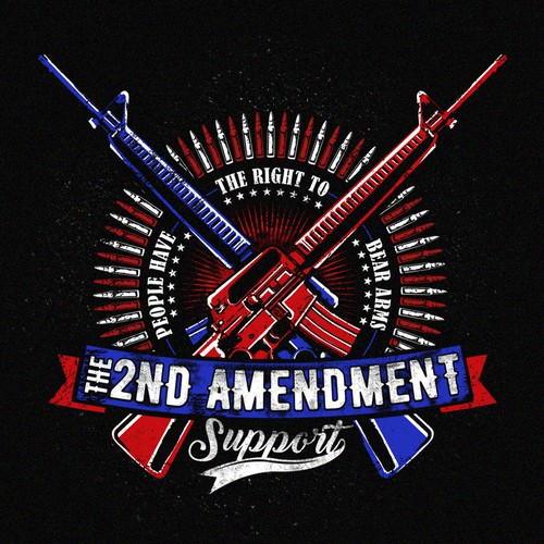 "Support design with the title '""The 2ND Amendment""'"