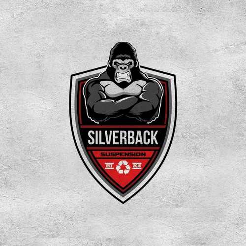 Shield design with the title 'SILVERBACK'