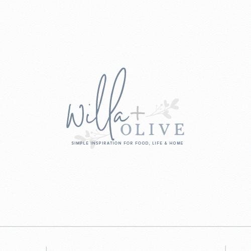 Farmhouse design with the title 'willa + olive'
