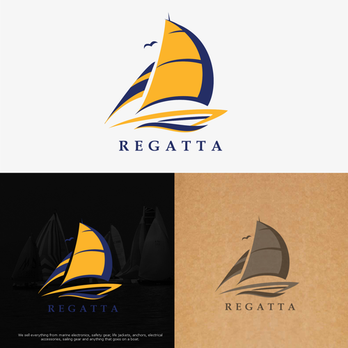 Sailboat logo with the title 'Regatta '