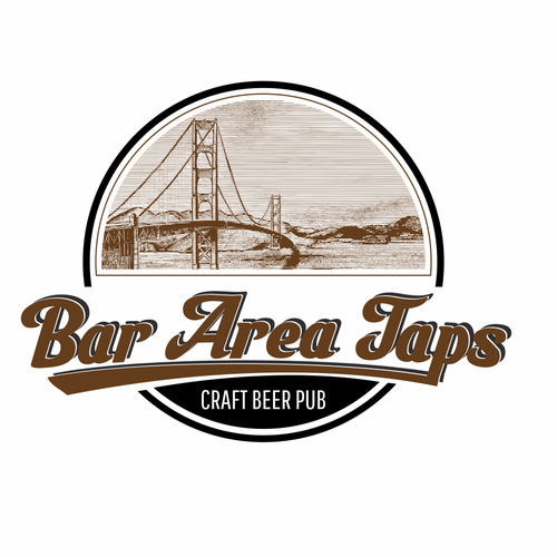 Bay design with the title 'Bay Area Taps - Craft Beer Taproom logo'