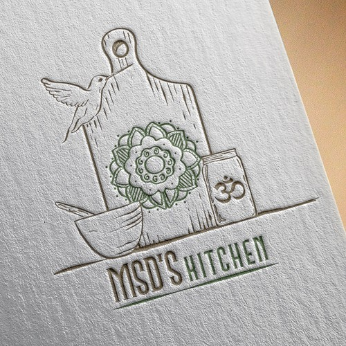 Mandala logo with the title 'Logo for msd's kitchen'