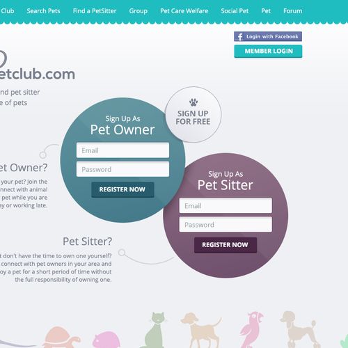 Pet website with the title 'Pet-sittingCommunityWebsite'