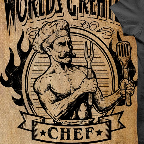 Chef design with the title 'World Greatest Chef'
