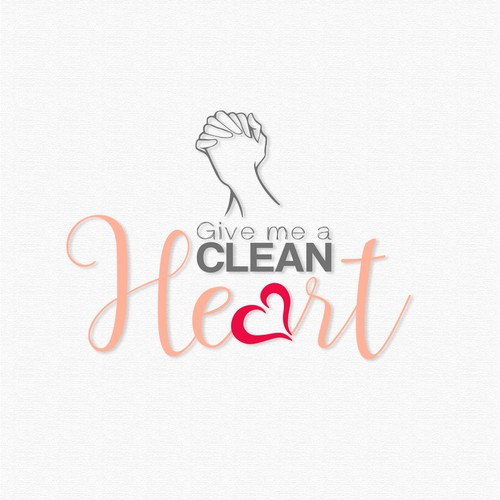 Pink t-shirt with the title 'Entry for Tshirt Design, Give me a Clean Heart'