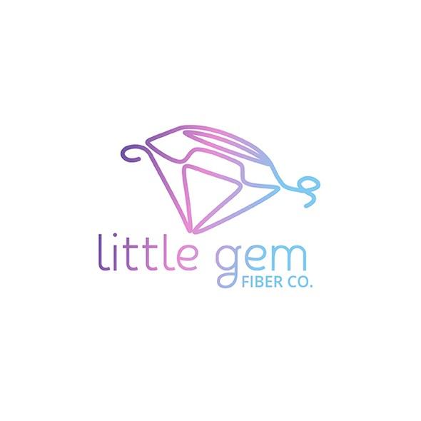 Fiber logo with the title 'Little Gem Fiber Co. Logo Design'
