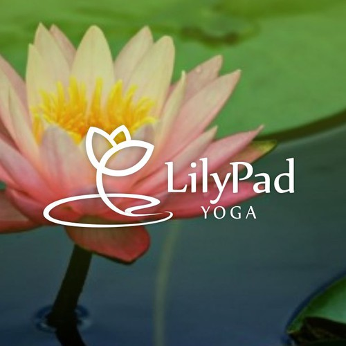 Lily design with the title 'Lily Pad Yoga for the Good of Humankind and the World'