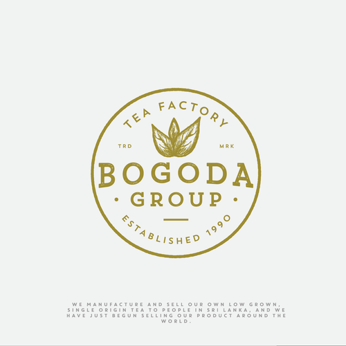 Factory logo with the title 'Logo for Bogoda Group - Tea Factory in Sri Lanka'