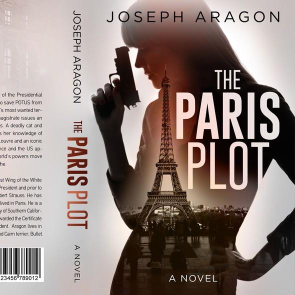 Paris design with the title 'The Paris plot - Adventure thriller'